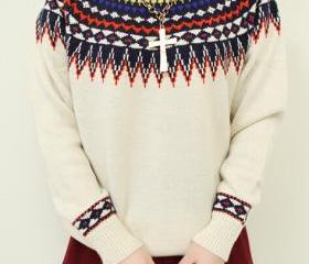 Sunflower sweater Round neck long sleeve knit -1